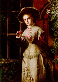teatime by william maw egley