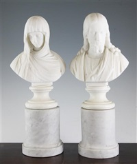 christ and mary magdalen (pair) by giovanni maria benzoni