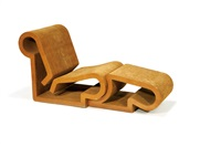 lounge chair and ottoman by frank gehry