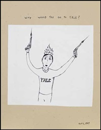 why would you go to yale? by royal art lodge (michael dumontier, marcel dzama, neil farber)