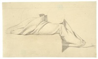 drapery study of a seated woman for moses vertreibt die hirten by bonaventura genelli