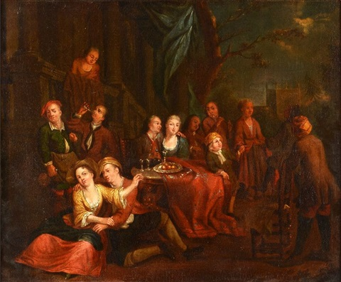 le banquet by jan josef horemans the younger