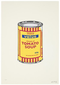 soup can - banana / cherry / blue by banksy