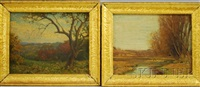 river view (+ distant view; 2 works) by harold c. dunbar