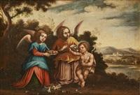 saint jean baptiste et les anges by francesco albani