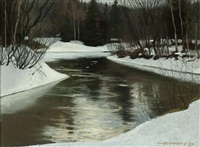 pickanock river by frank charles hennessey