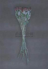 黑花ⅳ (black flower iv) by liu xun