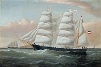 the ship maria at sea by william howard yorke