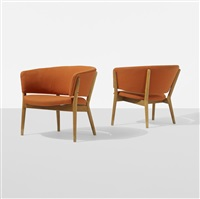 lounge chairs, pair by nanna and jørgen ditzel