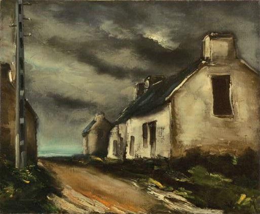 la sortie du village by maurice de vlaminck