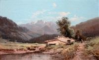 paysage de montagne animé by godchaux