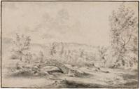 landschaft mit kleiner steinbrücke by willem von bemmel