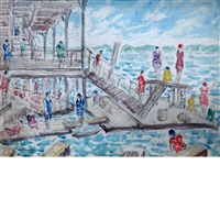 on the pier by abraham walkowitz