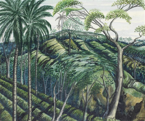 jungle landscape by ben enwonwu