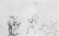 ss. peter and john heal a cripple at the gate of the temple by constantijn daniel van renesse