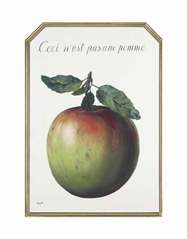 ceci nest pas une pomme this is not an apple by rené magritte