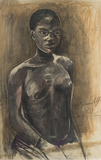 a young african woman by alexander evgenievich iacovleff