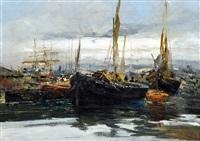barche nel porto di pozzuoli by ezelino briante
