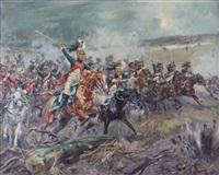 scène de bataille napoléonienne by eugene lelievre
