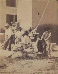 groupe de maçons au travail by olympe (count) aguado
