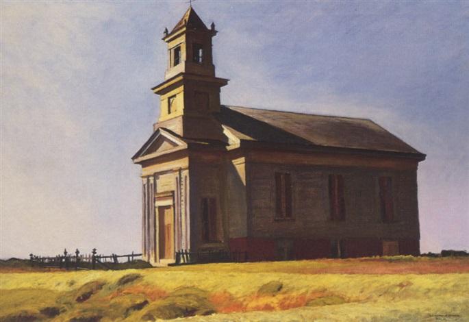 south truro church by edward hopper