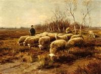 shepherd with his flock by fedor van kregten