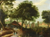 landscape with a horse-drawn wagon by anonymous-flemish (17)