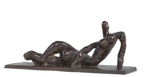femme couchée tournée à gauche by henri laurens