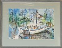 shrimp boat, mann's harbor n.c. by betty moncure