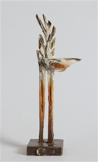 bird in tree maquette by leo higgins