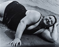coney island bather, new york by lisette model