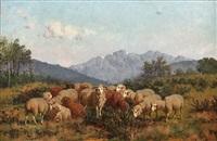 le troupeau dans la montagne by william baird