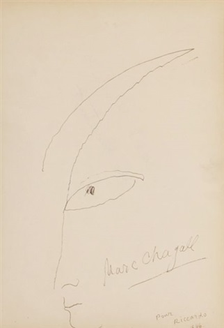 head in profile by marc chagall