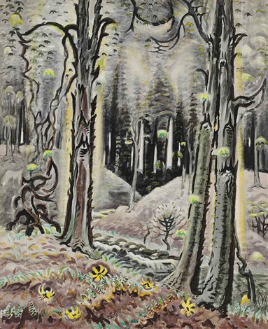 maytime in the woods by charles ephraim burchfield