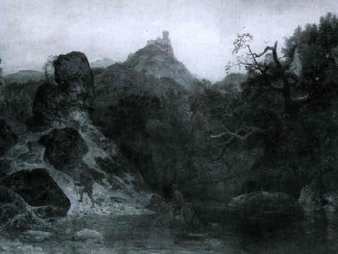 a mountain pass by emanuel gottlieb leutze
