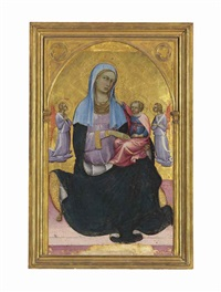 the madonna of humility with adoring angels by lorenzo (piero di giovanni) monaco