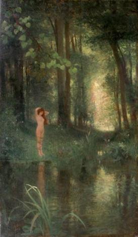 baigneuse dans la forêt by victor gabriel gilbert