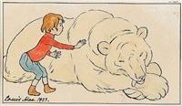 hvem kan finde katten i fadeburet? anne kan ikke (+ a boy and a polar bear; 2 works) by louis maria niels peder halling moe