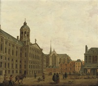 a view of the dam, amsterdam by jan ten compe