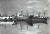 les navires du port de cuba by l. santa maria
