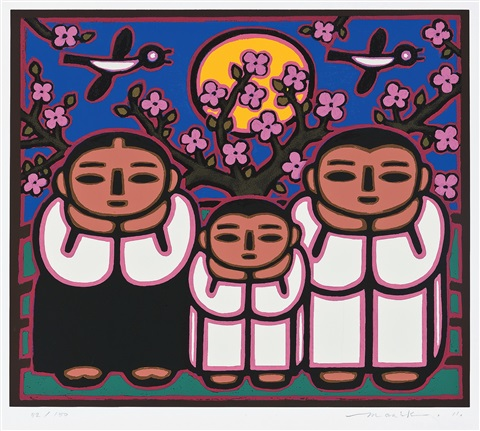 family(the moon rise on the hilltop) by lee manik