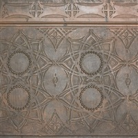 stair riser frieze from the chicago stock exchange by louis henri sullivan