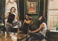 me, raina, and trista in the dining room by delia brown