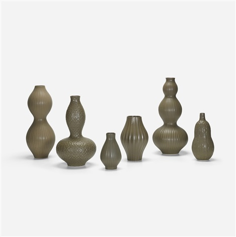 Collecton Of Six Pot Au Porter Vases By Jonathan Adler On Artnet