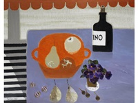 still life with orange bowl by mary fedden