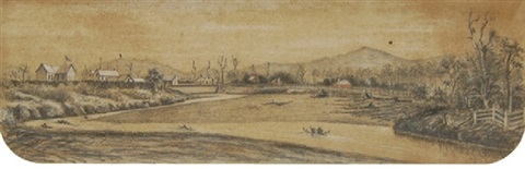 stockade and bridge hutt by george frederick swainson