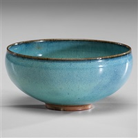 blue bowl by edwin and mary scheier