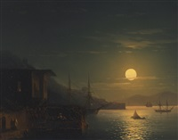 moonlight on the bosphorus by ivan konstantinovich aivazovsky
