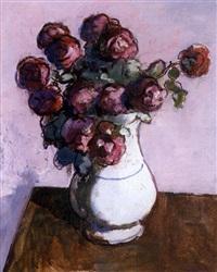 jarrón con rosas by joseph mompou