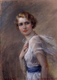 giovane donna in bianco by emanuela fabbricotti